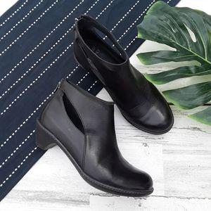 Dansko| Bonita Cut Out Black Leather Booties 39